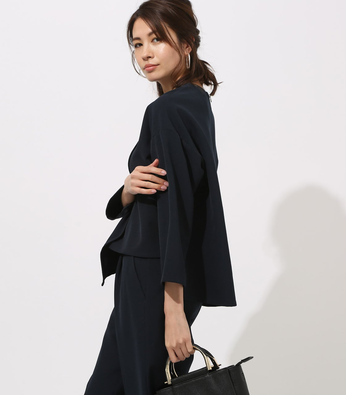 【AZUL BY MOUSSY】LAYERED IRREGULAR HEM TOPS 詳細画像 NVY 2