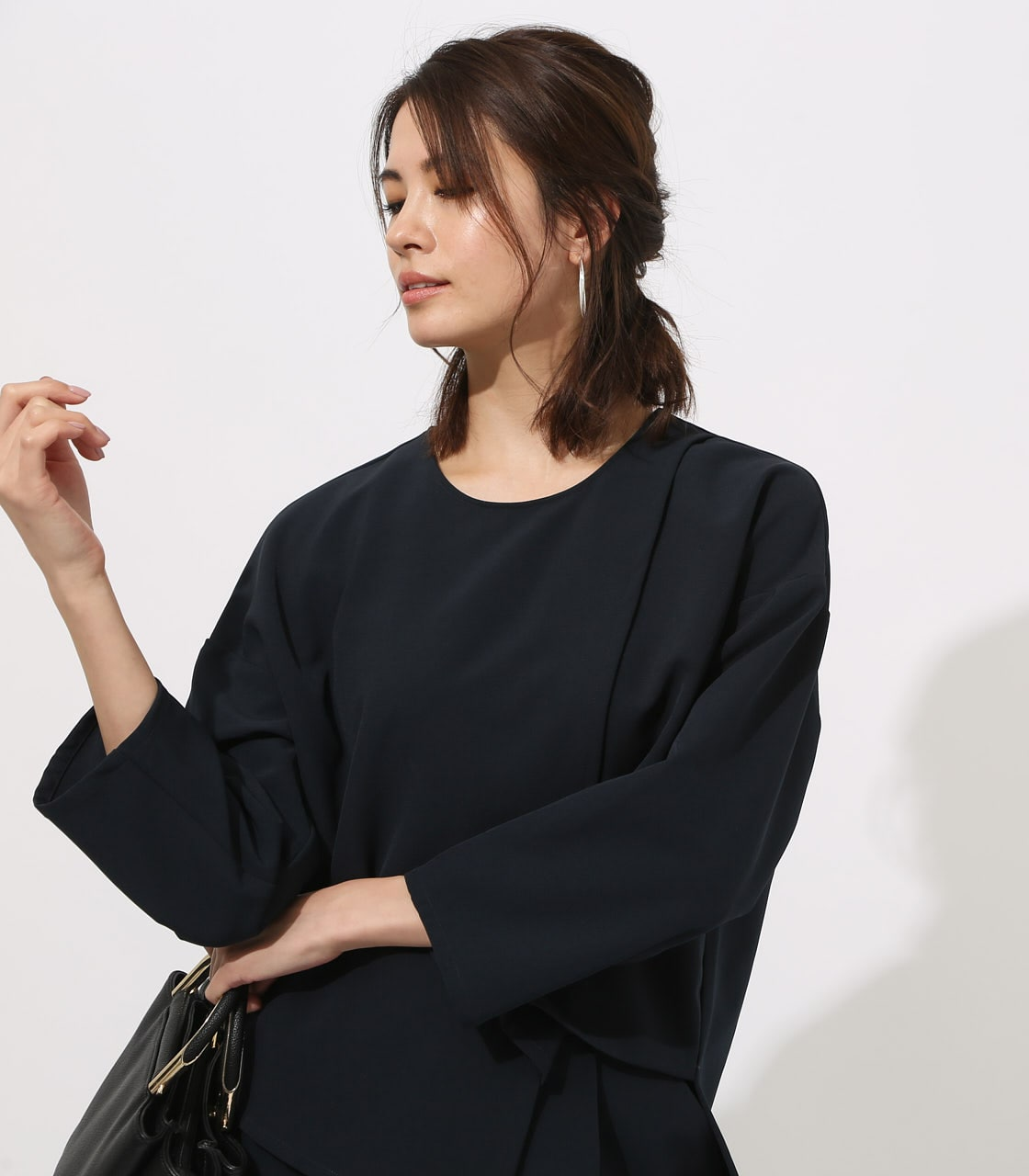 【AZUL BY MOUSSY】LAYERED IRREGULAR HEM TOPS 詳細画像 NVY 3