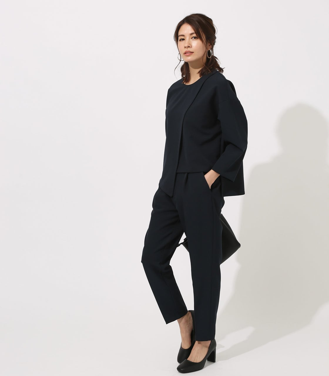 【AZUL BY MOUSSY】LAYERED IRREGULAR HEM TOPS 詳細画像 NVY 4