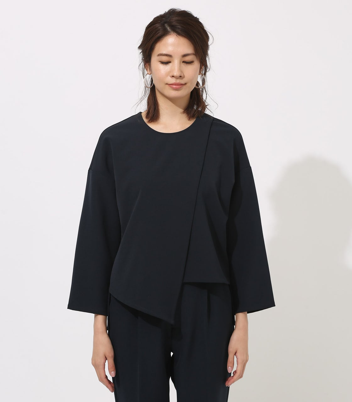 【AZUL BY MOUSSY】LAYERED IRREGULAR HEM TOPS 詳細画像 NVY 5