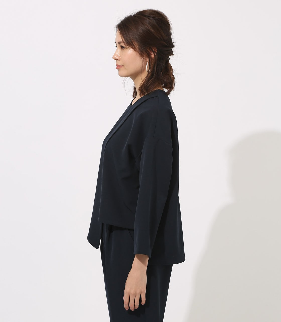 【AZUL BY MOUSSY】LAYERED IRREGULAR HEM TOPS 詳細画像 NVY 6