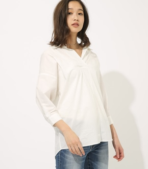 【AZUL BY MOUSSY】VOLUME SLEEVE SKIPPER BLOUSE