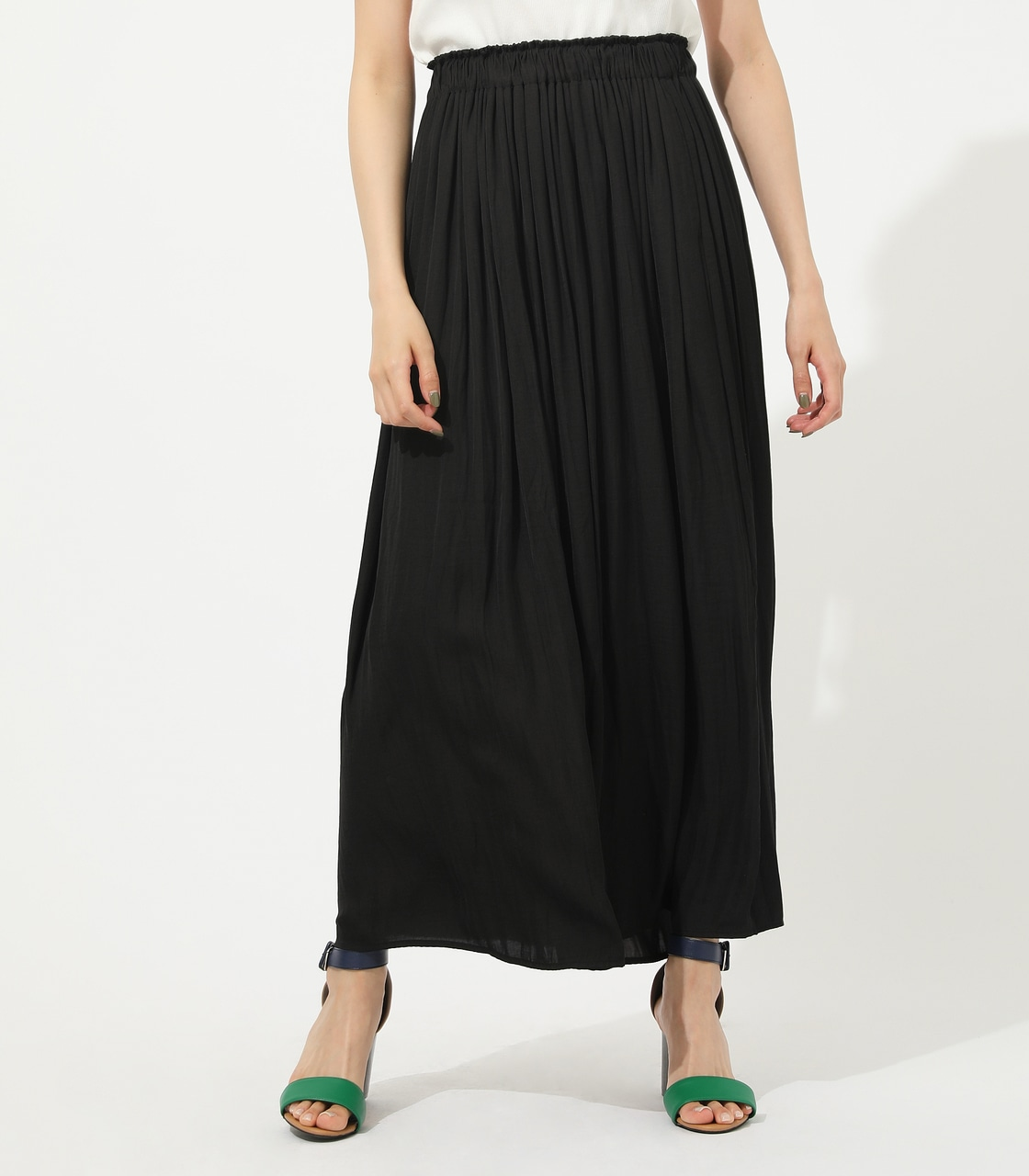 【AZUL BY MOUSSY】GATHER FLARE SKIRT 詳細画像 BLK 1