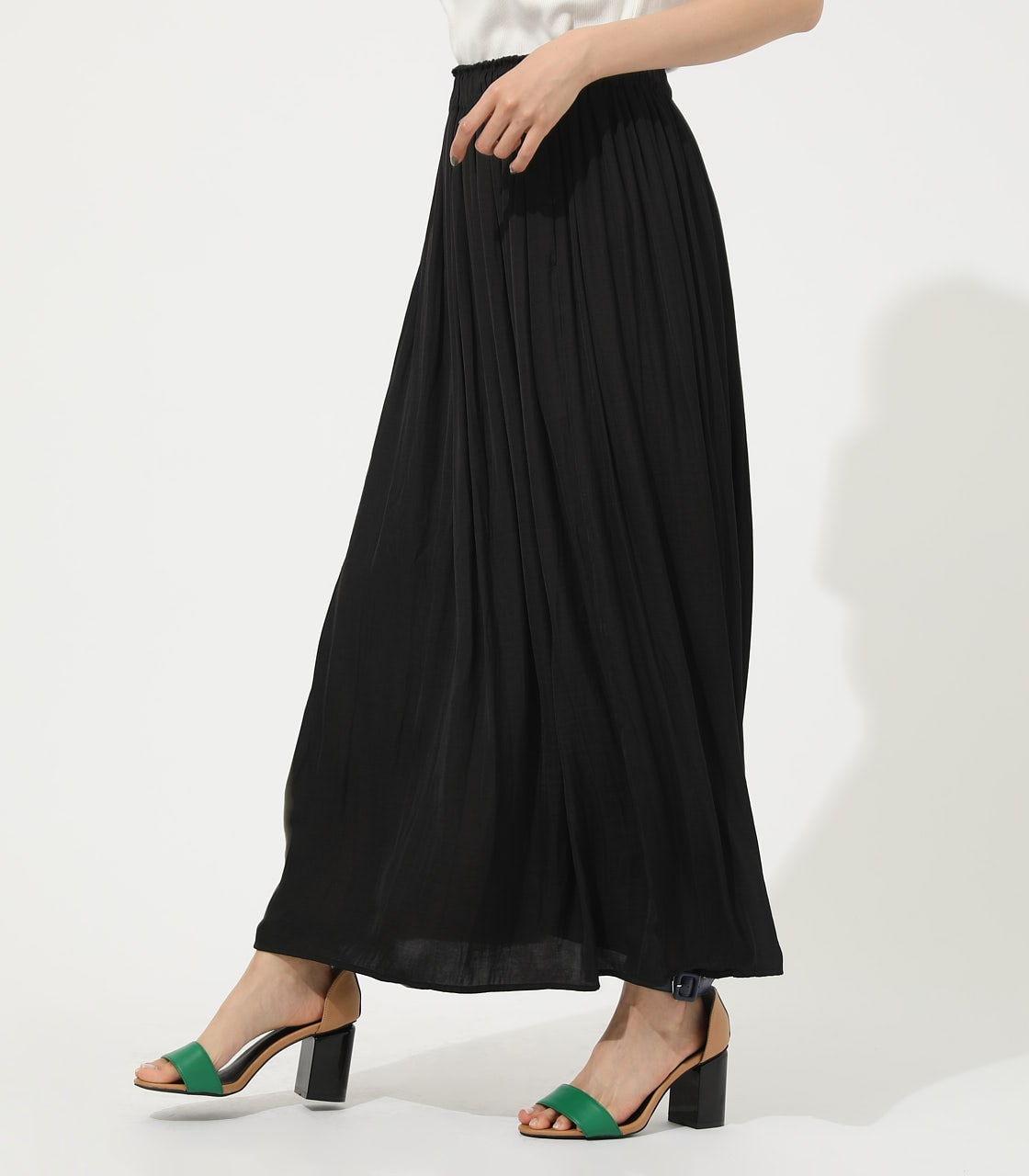 【AZUL BY MOUSSY】GATHER FLARE SKIRT 詳細画像 BLK 2