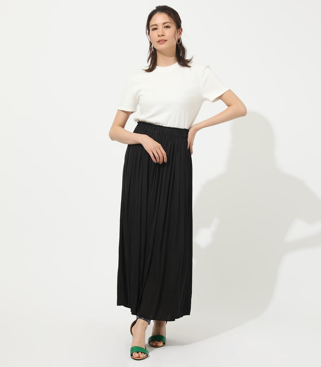 【AZUL BY MOUSSY】GATHER FLARE SKIRT 詳細画像 BLK 3