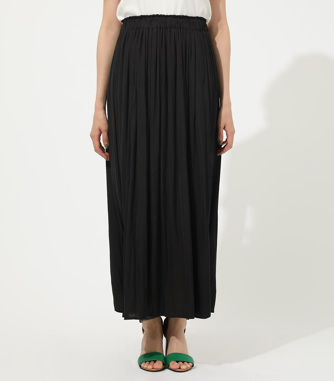 【AZUL BY MOUSSY】GATHER FLARE SKIRT 詳細画像 BLK 4