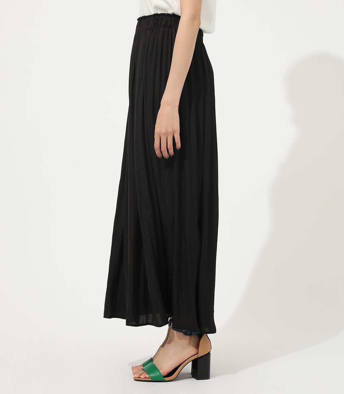 【AZUL BY MOUSSY】GATHER FLARE SKIRT 詳細画像 BLK 5