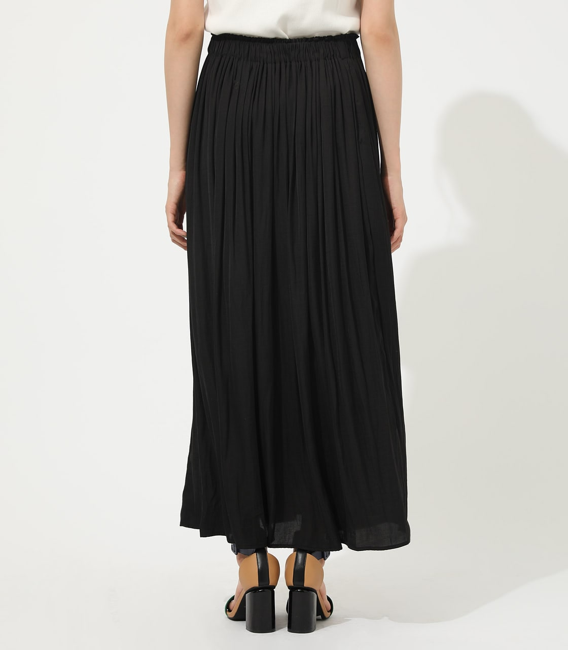 【AZUL BY MOUSSY】GATHER FLARE SKIRT 詳細画像 BLK 6