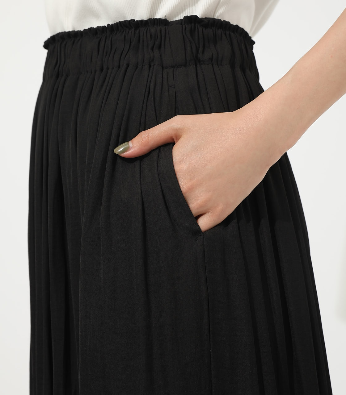 【AZUL BY MOUSSY】GATHER FLARE SKIRT 詳細画像 BLK 8
