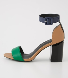 COLORBLOCK CHUNKY HEELSANDALS