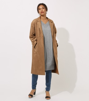 【AZUL BY MOUSSY】FAKE SUEDE CHESTER COAT