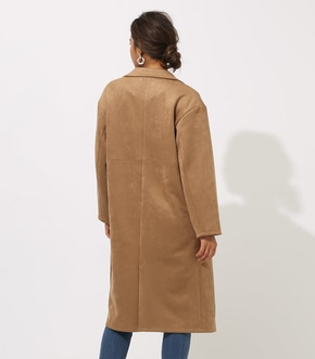 【AZUL BY MOUSSY】FAKE SUEDE CHESTER COAT 詳細画像