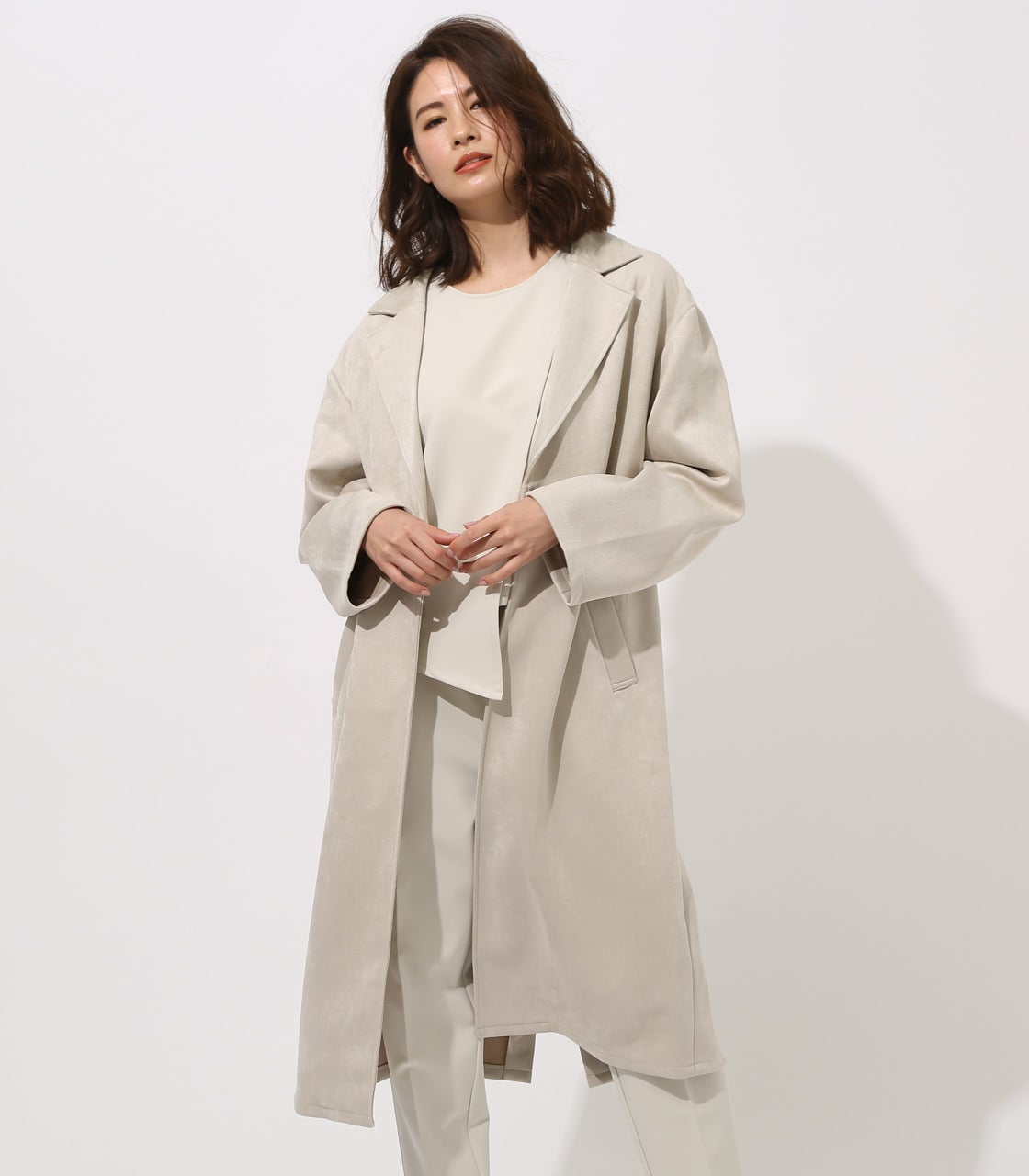 FAKE SUEDE CHESTER COAT 詳細画像 L/GRY 1