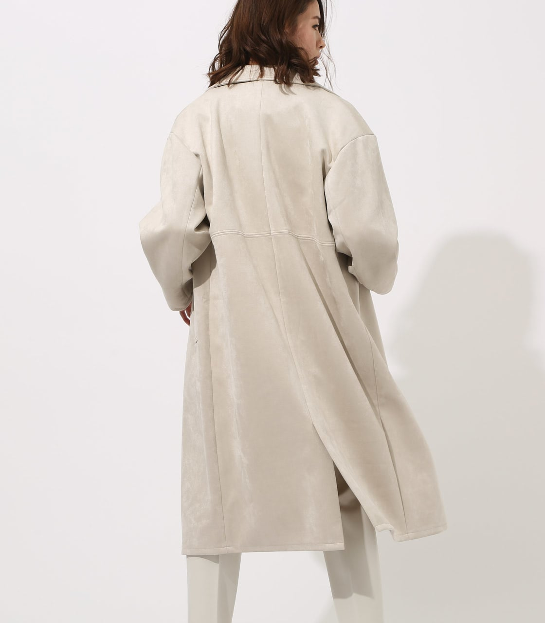 FAKE SUEDE CHESTER COAT 詳細画像 L/GRY 3