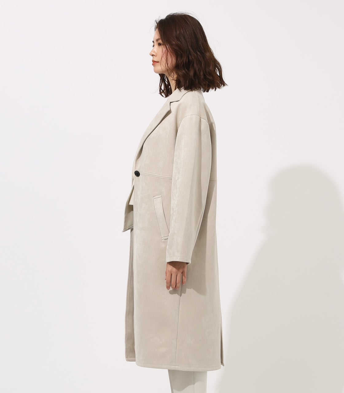FAKE SUEDE CHESTER COAT 詳細画像 L/GRY 6