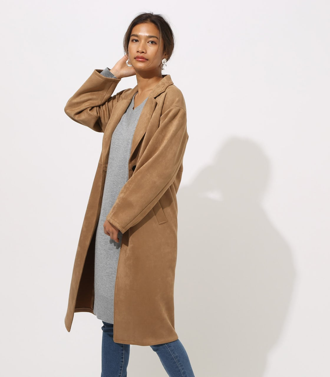 【AZUL BY MOUSSY】FAKE SUEDE CHESTER COAT 詳細画像 CAM 2