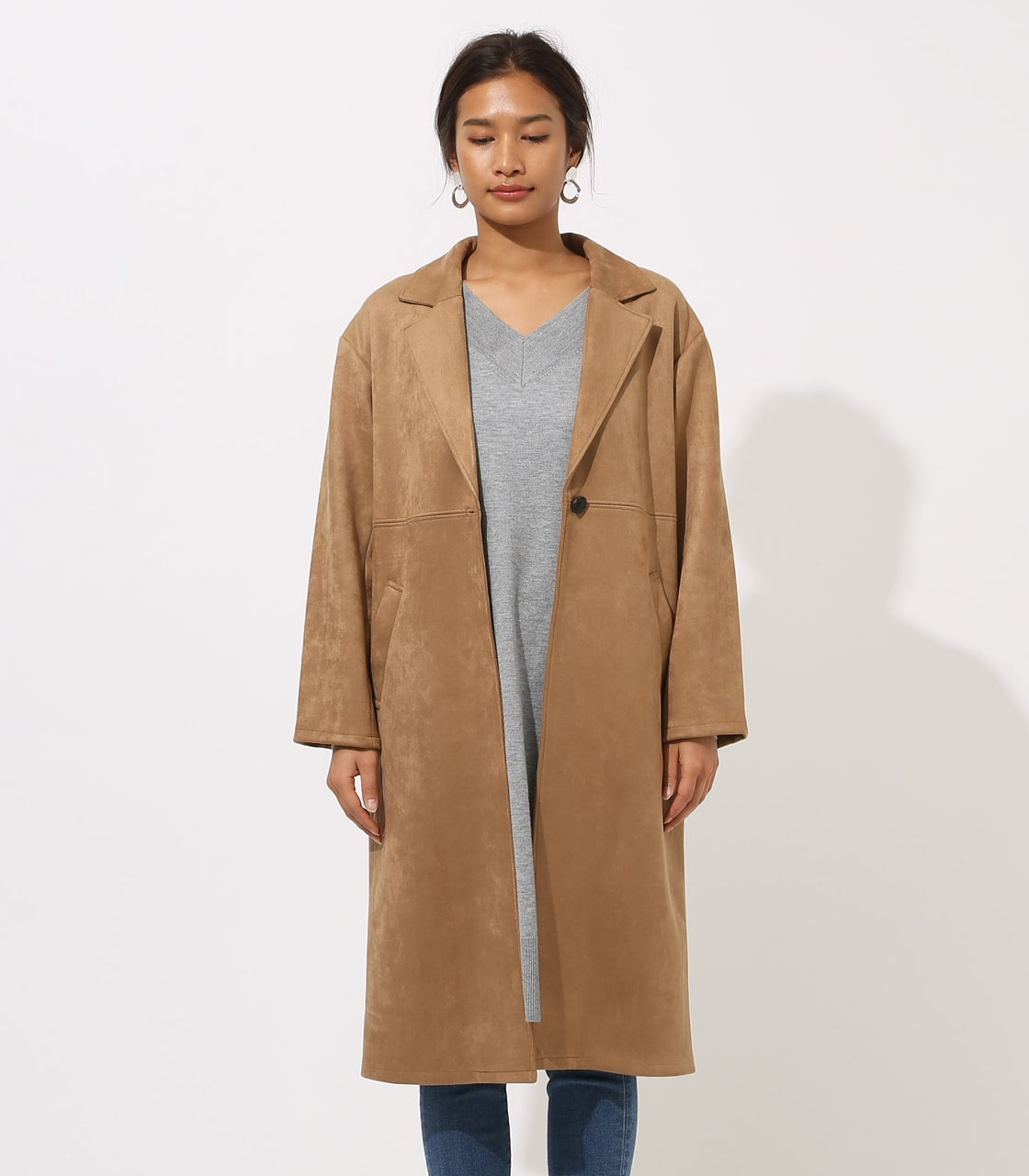 【AZUL BY MOUSSY】FAKE SUEDE CHESTER COAT 詳細画像 CAM 5