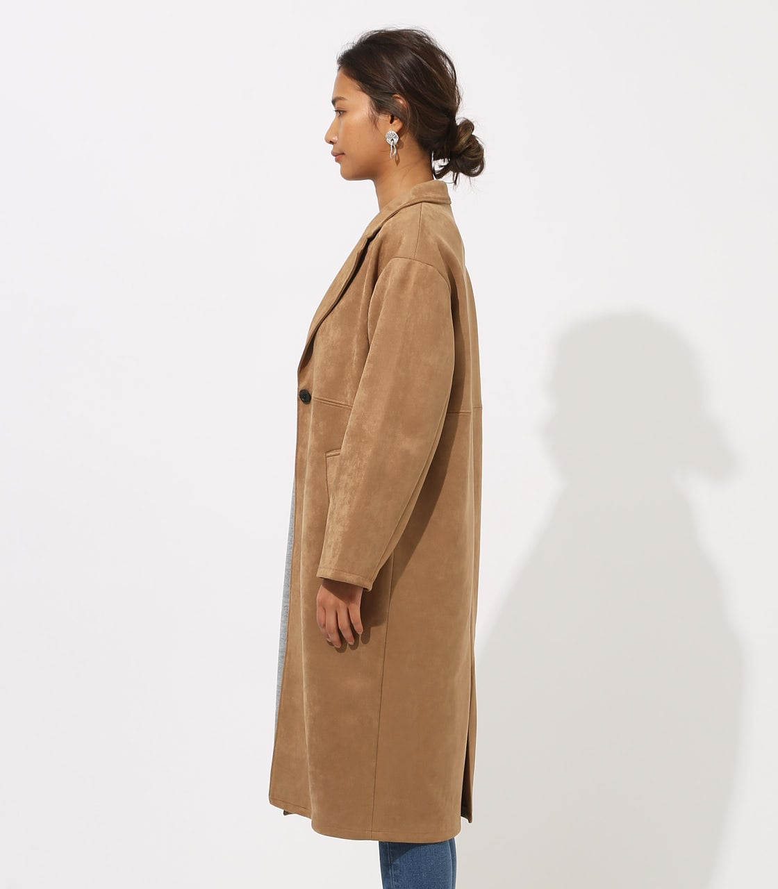 【AZUL BY MOUSSY】FAKE SUEDE CHESTER COAT 詳細画像 CAM 6
