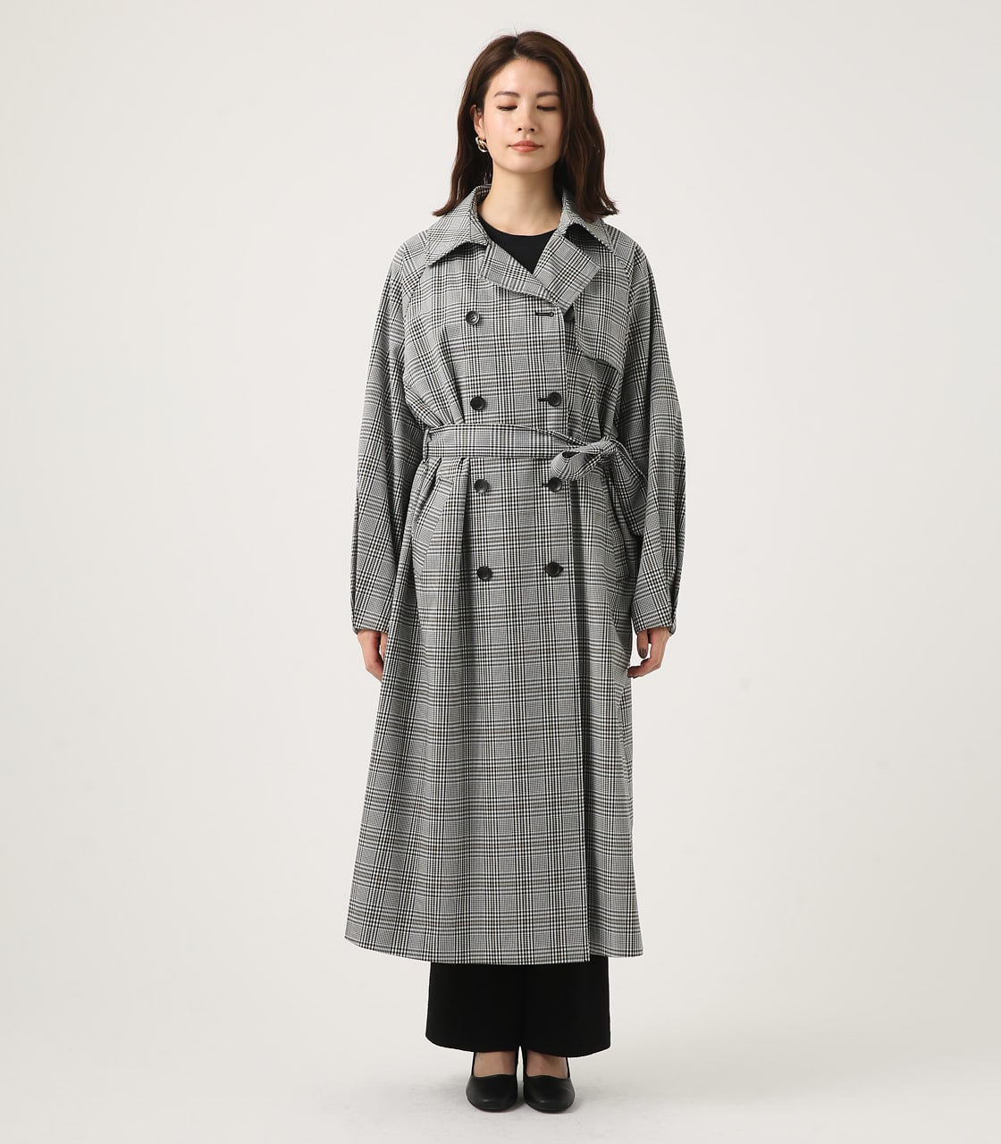 【AZUL BY MOUSSY】VOLUME SLEEVE LONG TRENCH COAT 詳細画像 柄BLK 5