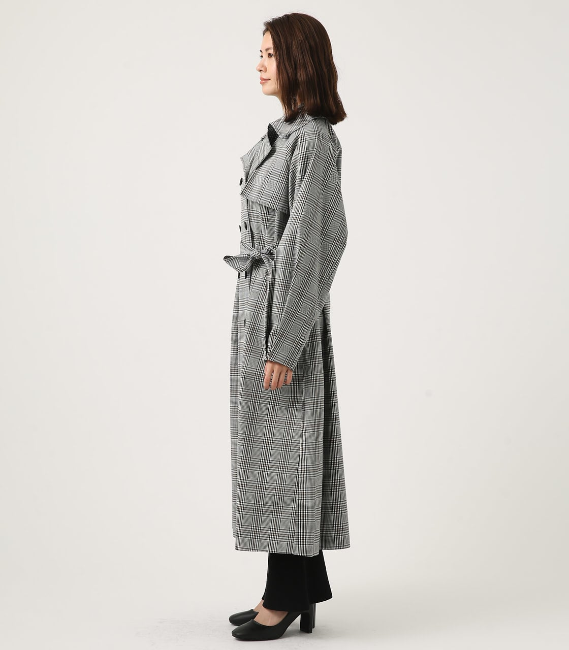 【AZUL BY MOUSSY】VOLUME SLEEVE LONG TRENCH COAT 詳細画像 柄BLK 6
