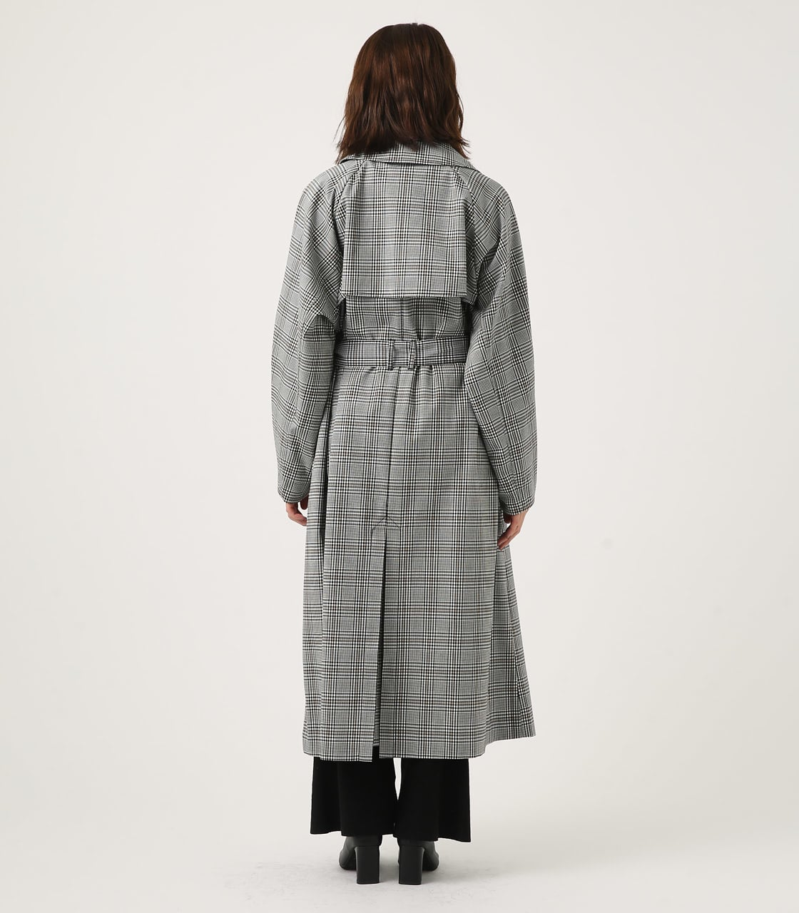 【AZUL BY MOUSSY】VOLUME SLEEVE LONG TRENCH COAT 詳細画像 柄BLK 7