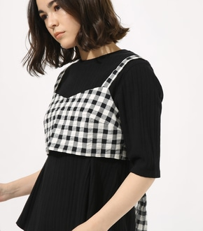 【AZUL BY MOUSSY】GINGHAM CHECK BUSTIER TOPS 【MOOK49掲載 90054】