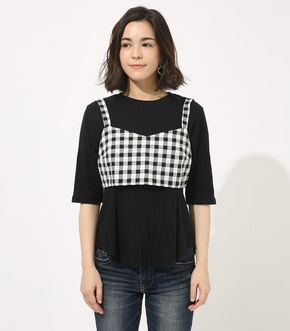 【AZUL BY MOUSSY】GINGHAM CHECK BUSTIER TOPS 【MOOK49掲載 90054】 詳細画像