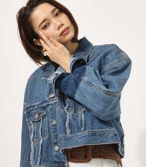 【AZUL BY MOUSSY】FRINGE OVER DENIM JACKET 【MOOK49掲載 90052】