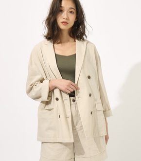 【AZUL BY MOUSSY】LINEN LOOSE JACKET