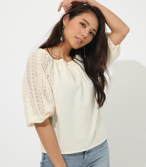 2WAY LACE SLEEVE TOPS
