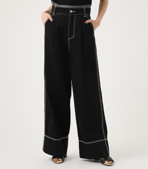 【AZUL BY MOUSSY】STITCH WORK WIDE PANTS