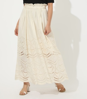 【AZUL BY MOUSSY】Cotton Lace Tiered MAXI スカート【MOOK50掲載 90132】