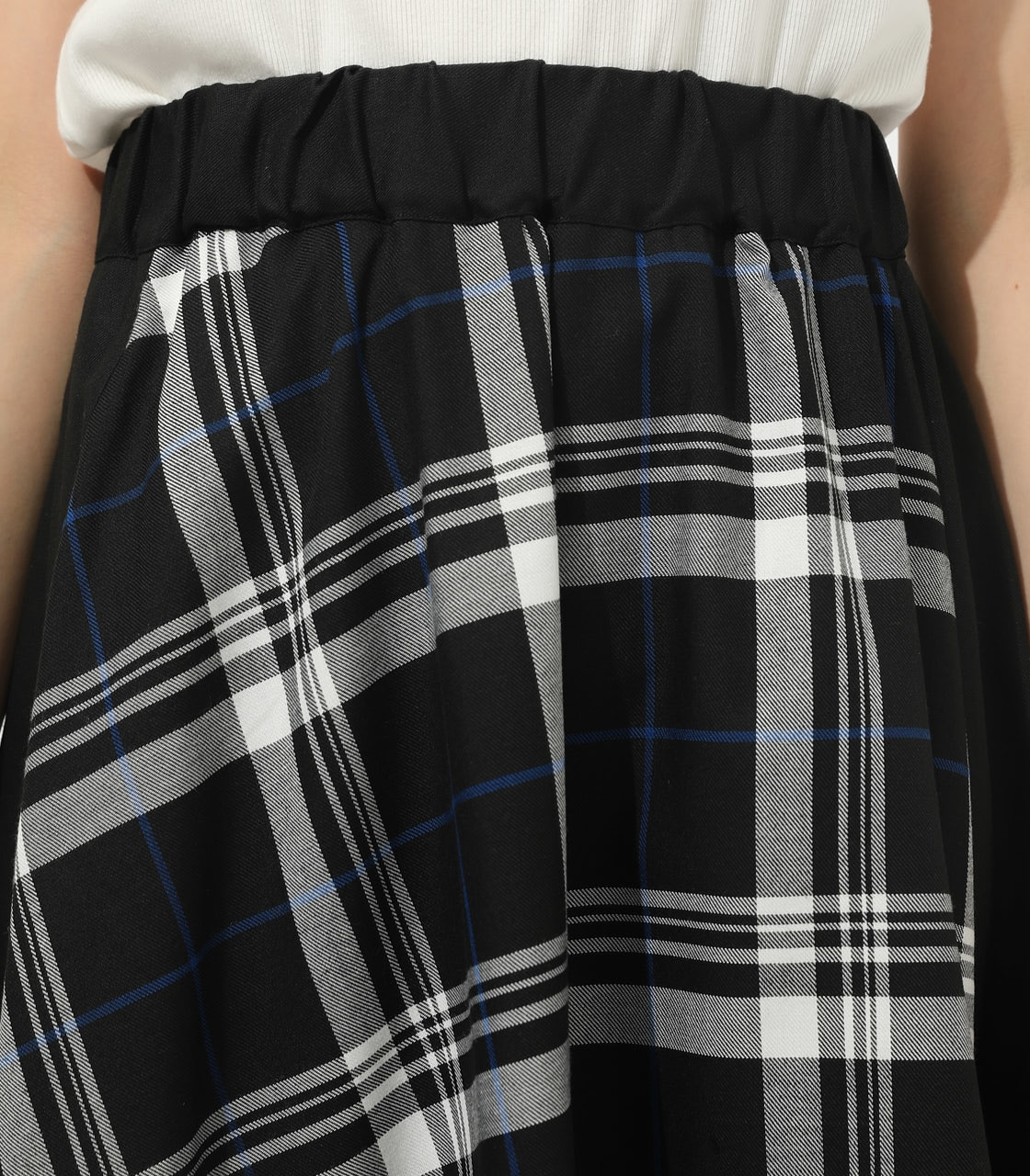 【AZUL BY MOUSSY】CHECK ASYMMETRY PATTERN SKIRT 詳細画像 柄BLK 7