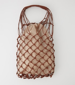 【AZUL BY MOUSSY】LEATHER LIKE MESH TOTE BAG