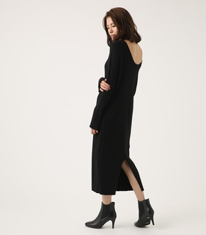 【AZUL BY MOUSSY】BACK SLIT RIB KNIT ONE PIECE