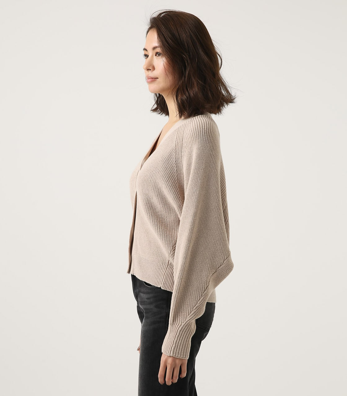 【AZUL BY MOUSSY】SHORT KNIT CARDIGAN 詳細画像 L/BEG 6