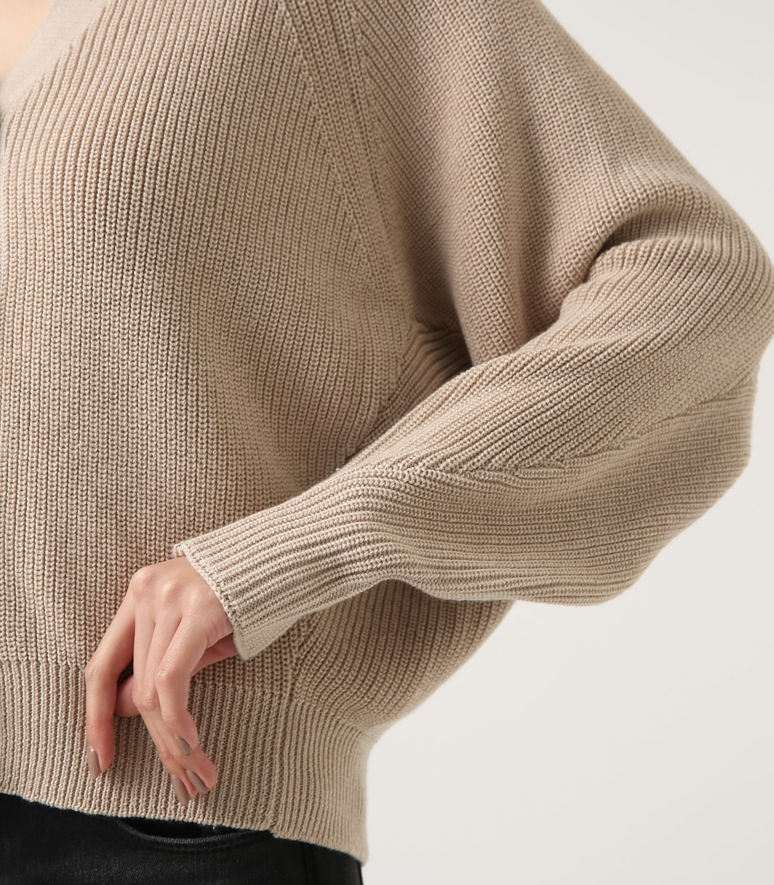 【AZUL BY MOUSSY】SHORT KNIT CARDIGAN 詳細画像 L/BEG 9