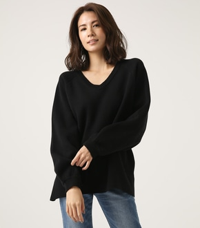 【AZUL BY MOUSSY】SWEATTER Vネック LOOSE TOPS