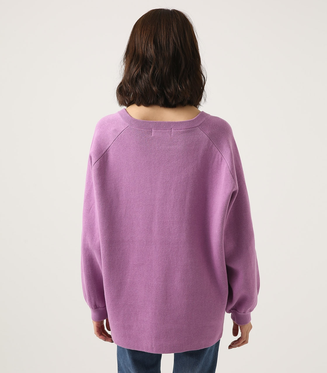 【AZUL BY MOUSSY】SWEATTER Vネック LOOSE TOPS 詳細画像 L/PUR 7