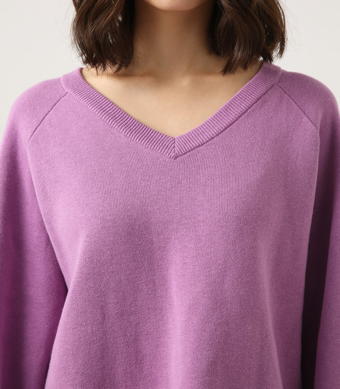 【AZUL BY MOUSSY】SWEATTER Vネック LOOSE TOPS 詳細画像 L/PUR 8