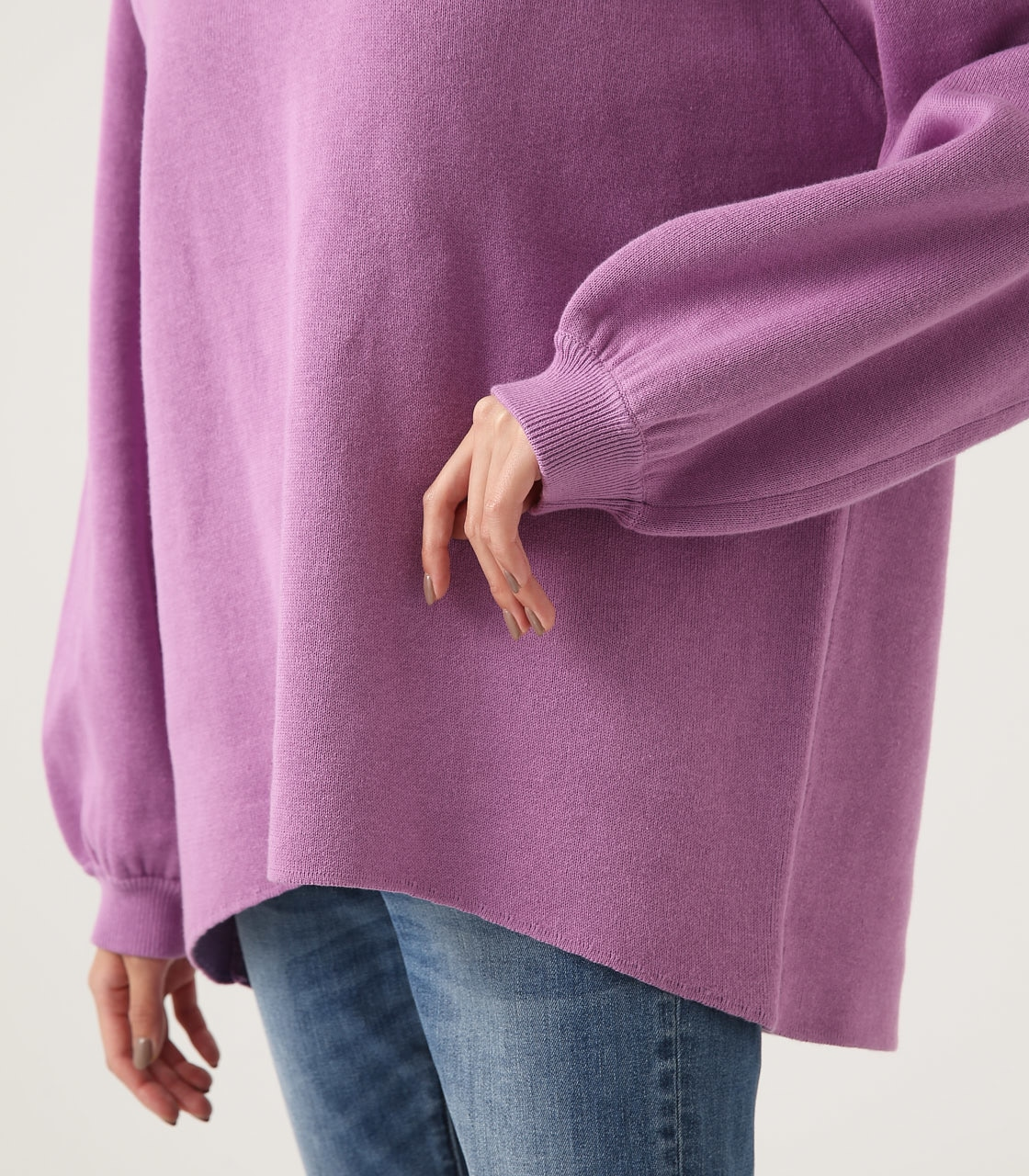 【AZUL BY MOUSSY】SWEATTER Vネック LOOSE TOPS 詳細画像 L/PUR 9
