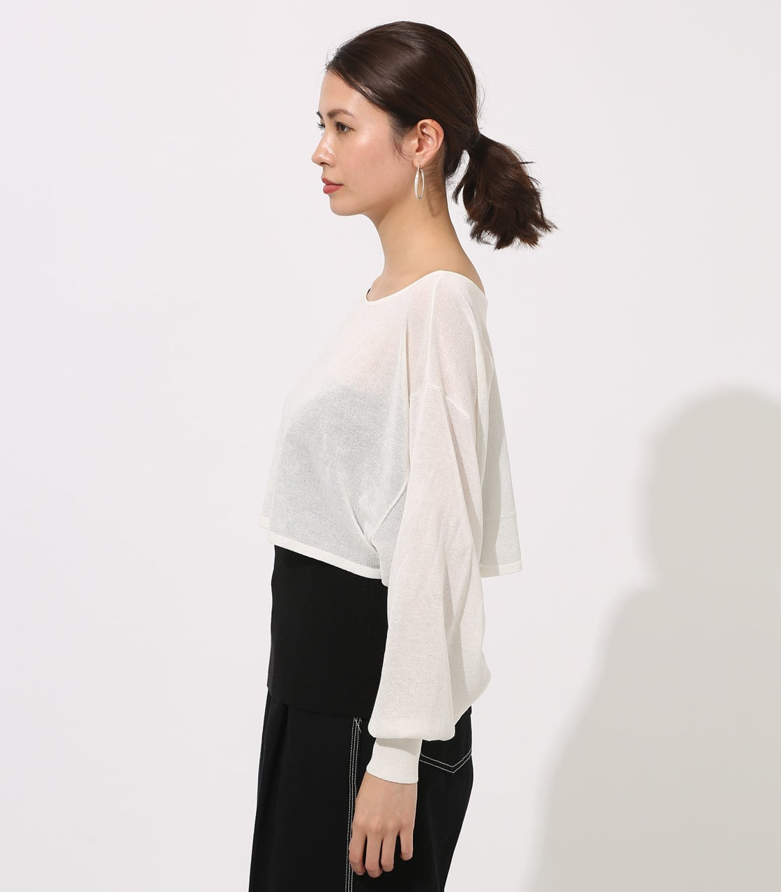 【AZUL BY MOUSSY】ONE-SHOULDER KNIT SET TOPS 詳細画像 O/WHT 6