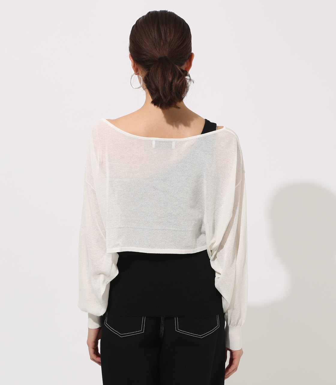 【AZUL BY MOUSSY】ONE-SHOULDER KNIT SET TOPS 詳細画像 O/WHT 7