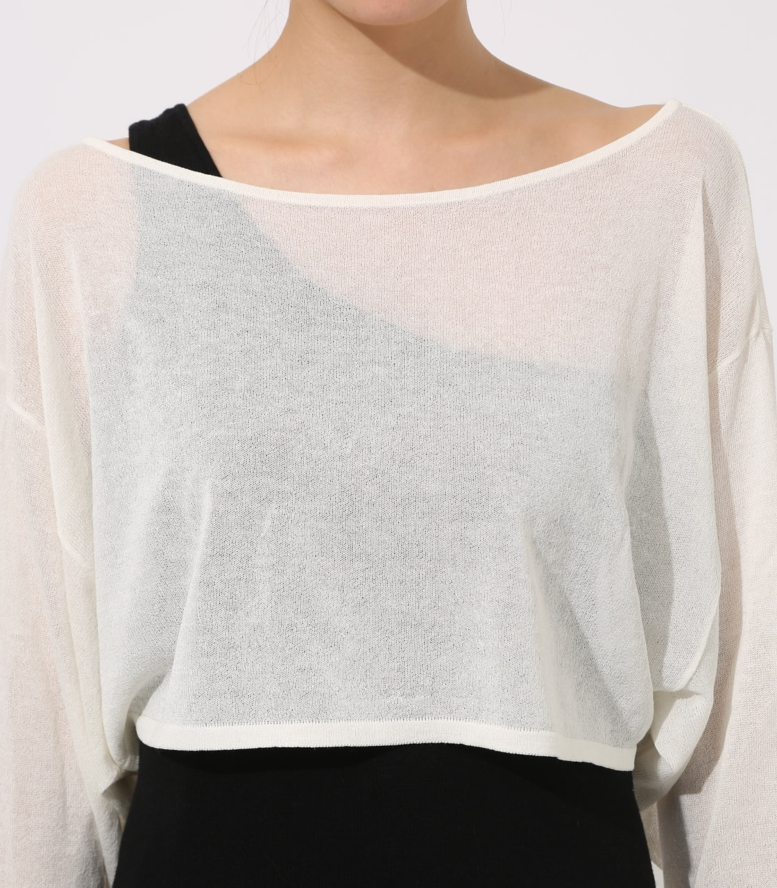 【AZUL BY MOUSSY】ONE-SHOULDER KNIT SET TOPS 詳細画像 O/WHT 8