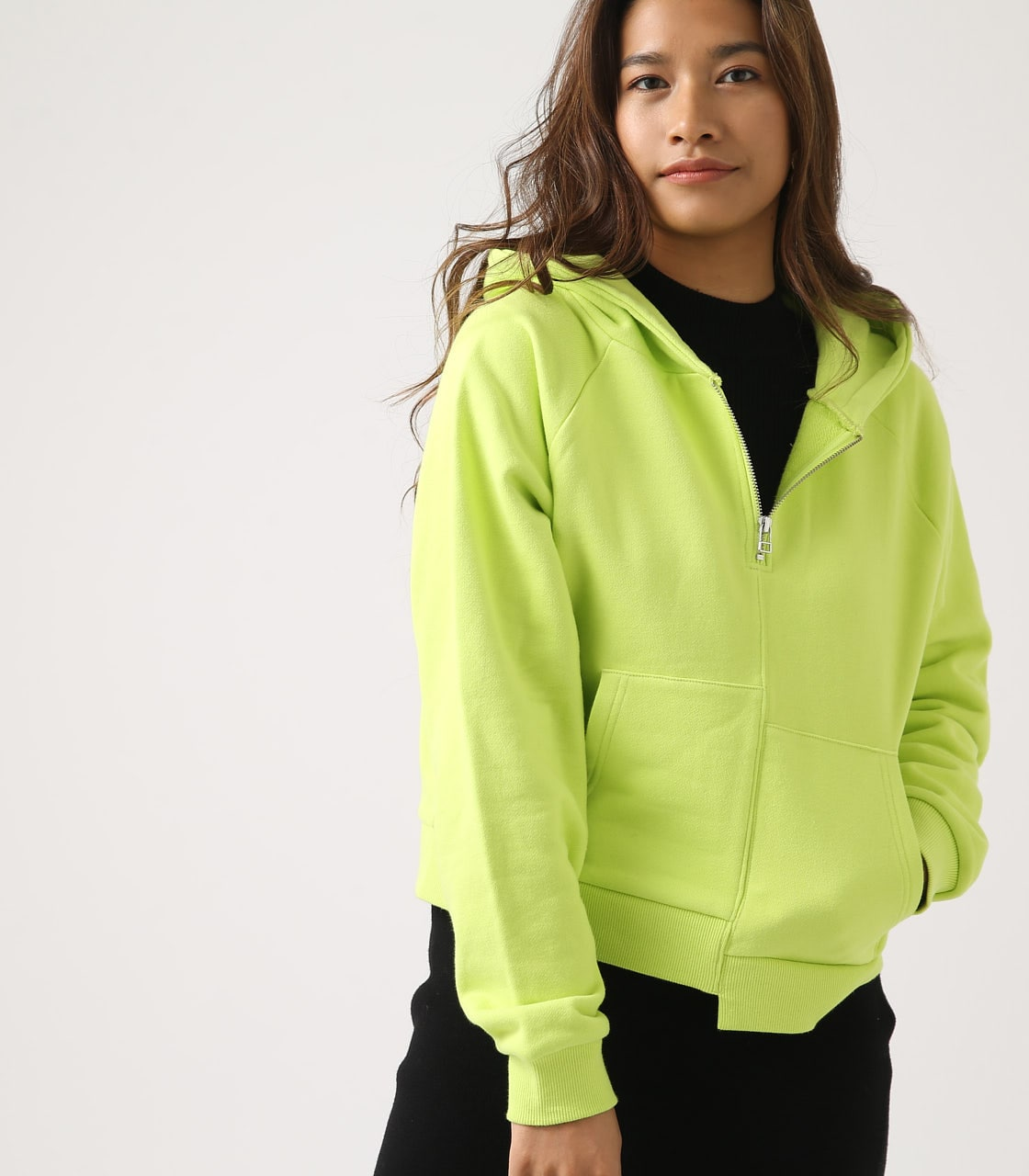 【AZUL BY MOUSSY】HALF ZIP HOODIE 詳細画像 LIME 2