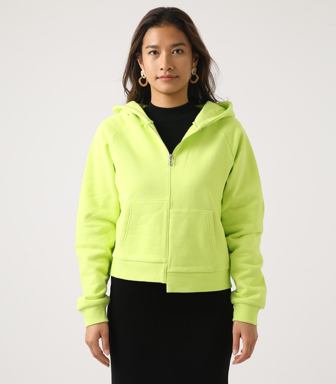【AZUL BY MOUSSY】HALF ZIP HOODIE 詳細画像 LIME 5