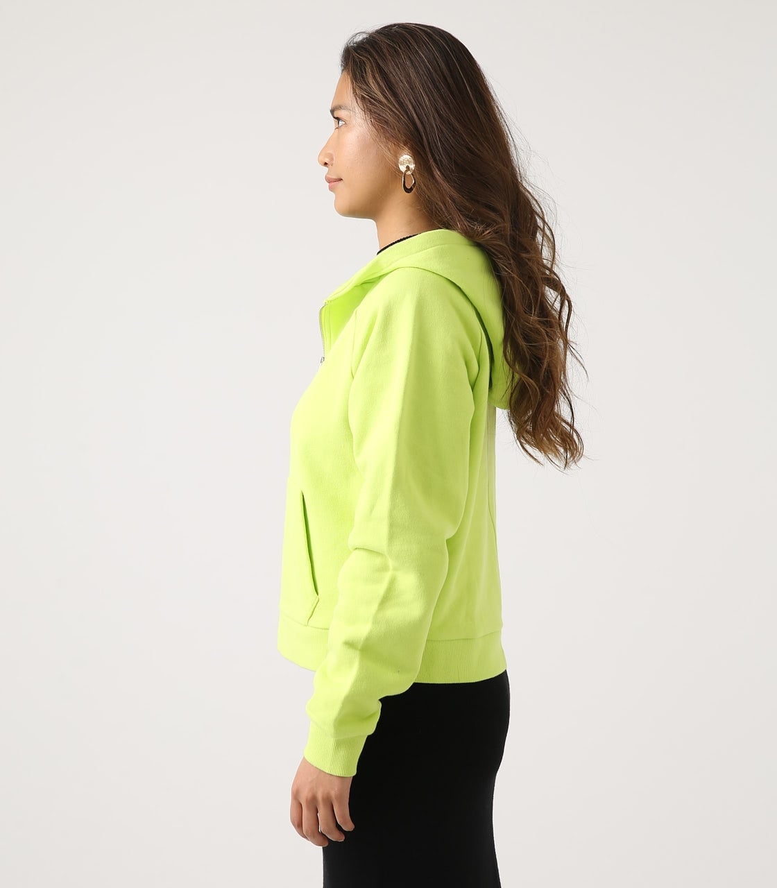 【AZUL BY MOUSSY】HALF ZIP HOODIE 詳細画像 LIME 6