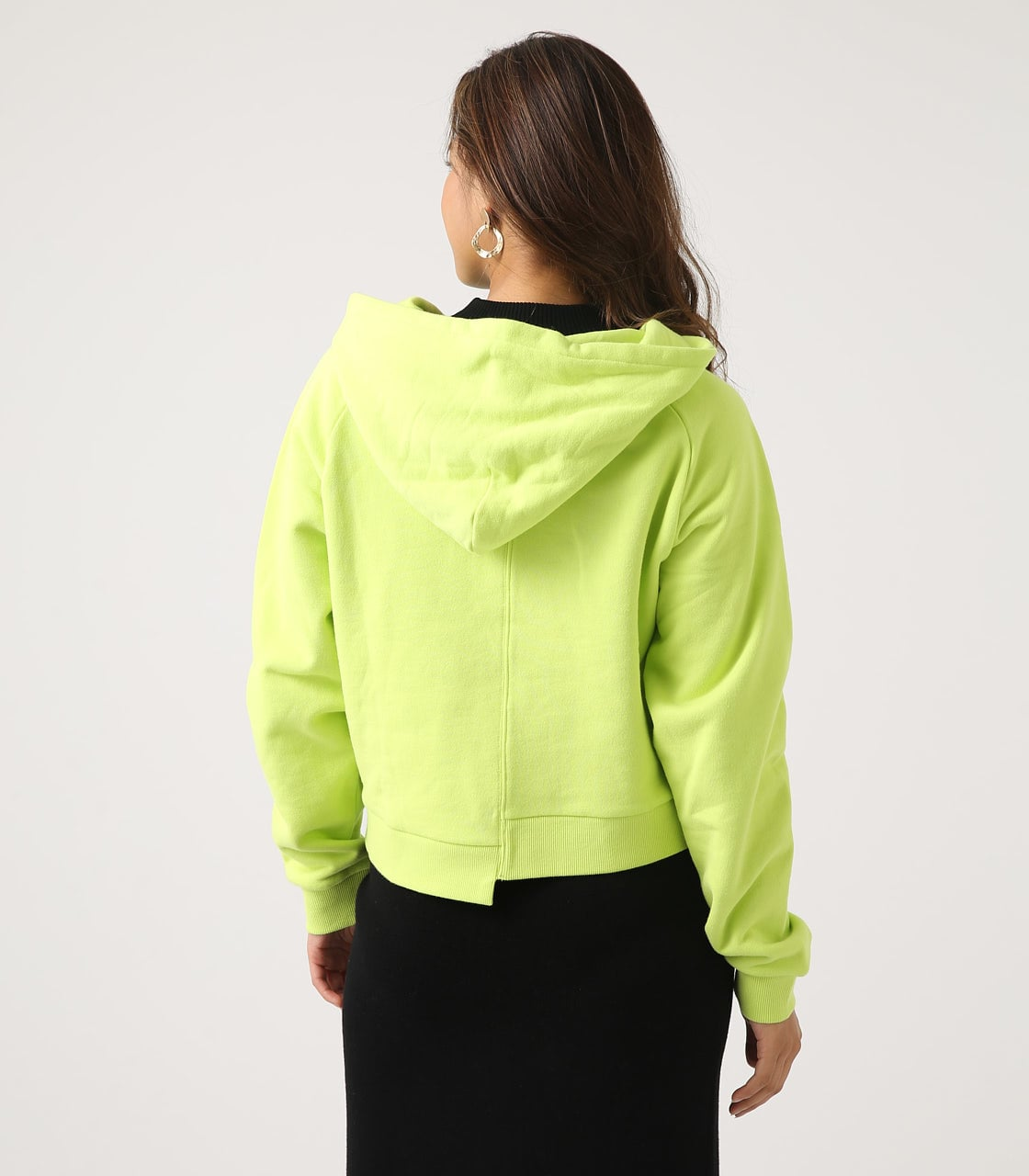 【AZUL BY MOUSSY】HALF ZIP HOODIE 詳細画像 LIME 7