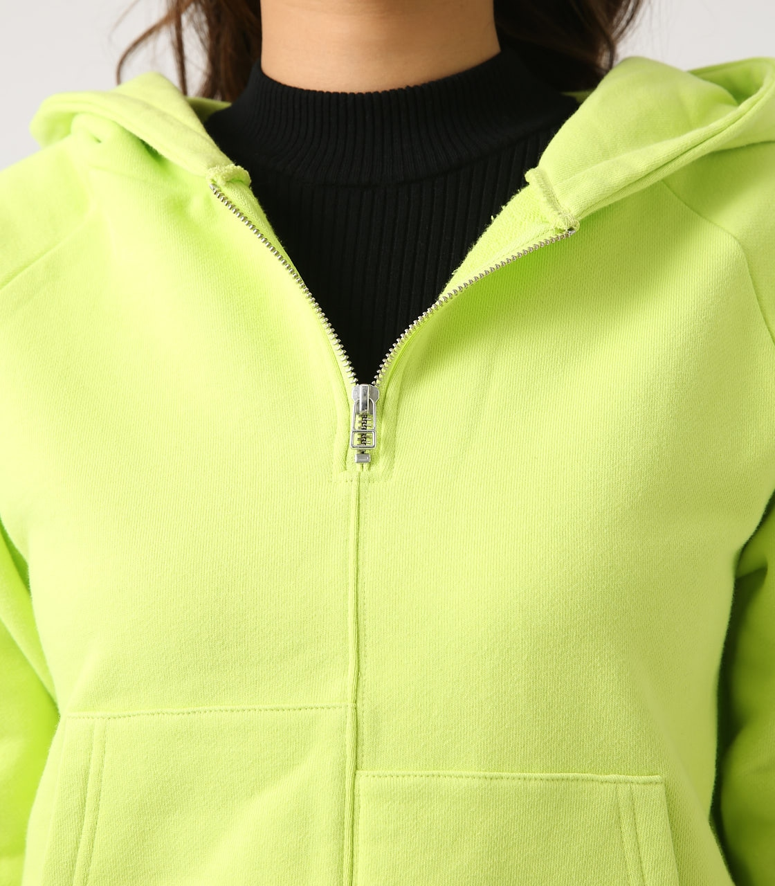 【AZUL BY MOUSSY】HALF ZIP HOODIE 詳細画像 LIME 8