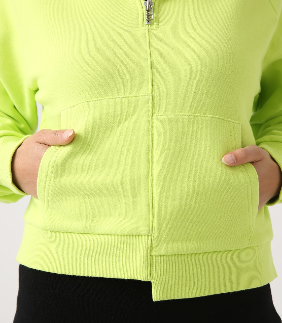 【AZUL BY MOUSSY】HALF ZIP HOODIE 詳細画像 LIME 9